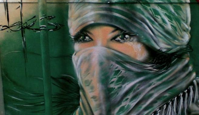 graffiti فلسطين لأمرأة