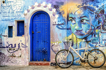فن الكاليغرافيتي في المغرب ازرق