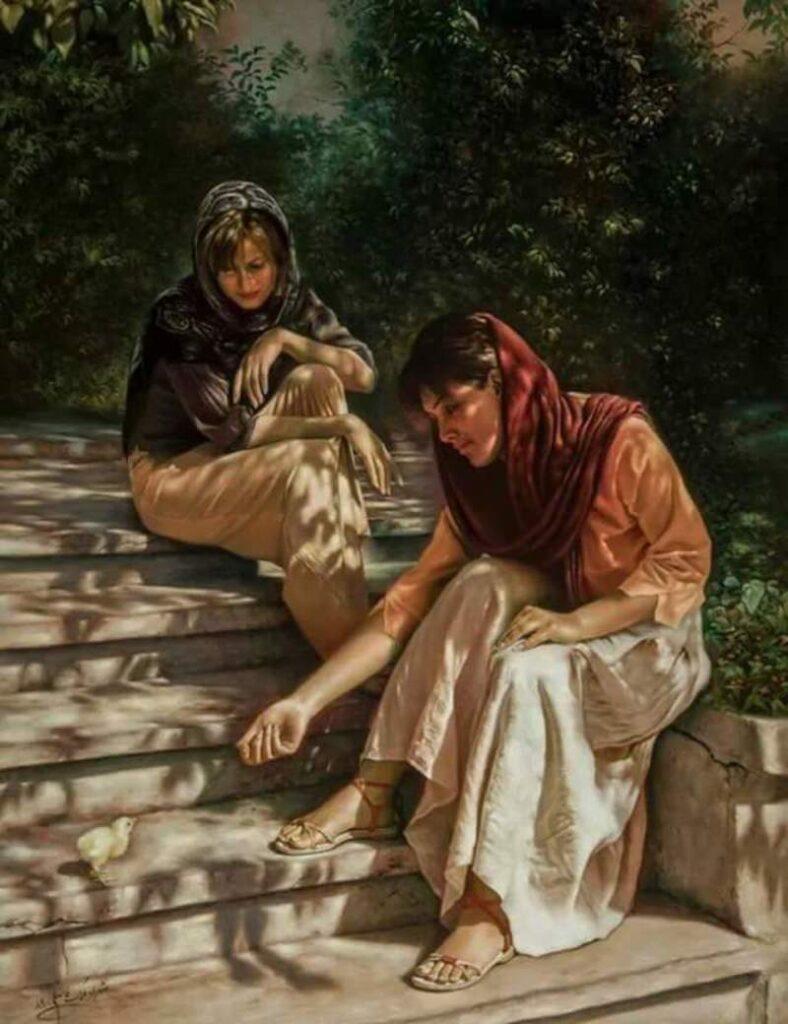 لوحة للفنان الإيراني ايمان ملكي- البيت