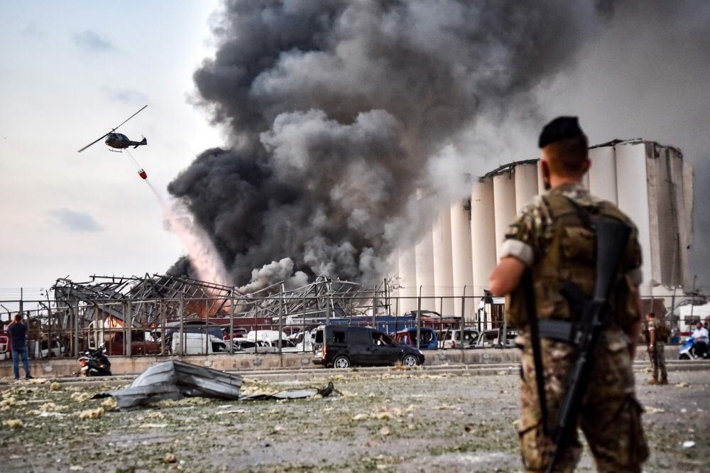 مرفأ بيروت الجيش اللبناني انفجار